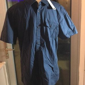 NWT I Jeans By Buffalo Short Sleeve Button Down